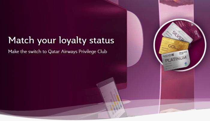 Qatar Airways Status Match Offer
