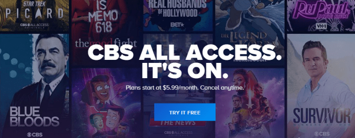 Month of CBS All Access Promo Codes