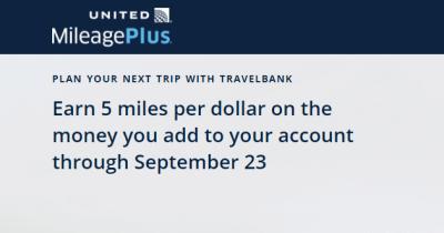 United 5x travelbank