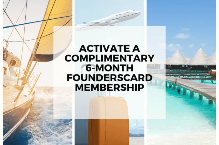 6 Free Months of FoundersCard Membership