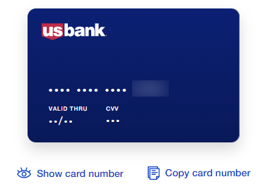 See the Full US Bank Card Number Online