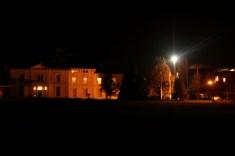 Plassey White House at night