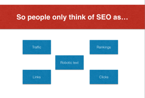 People think SEO as