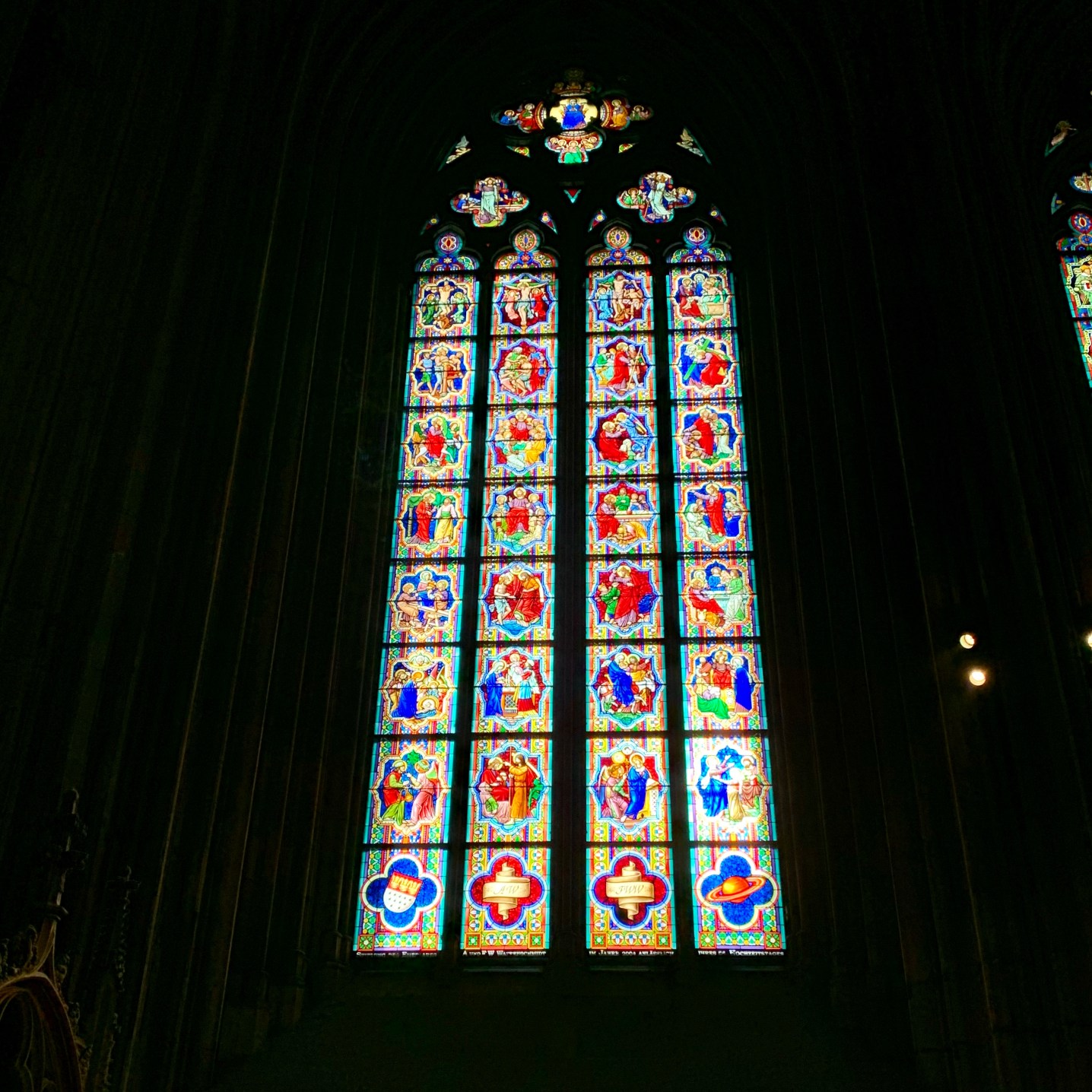 Stain glass windows from the inside
