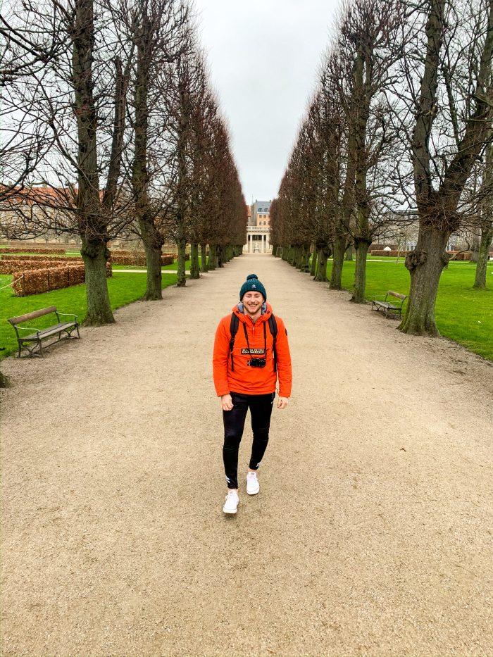 Rosenborg Palace gardens in Copenhagen city