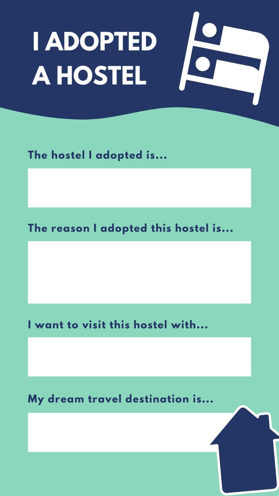 Adpot a Hostel Instagram template!