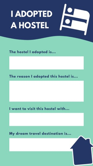 Adpot a Hostel Instagram template!