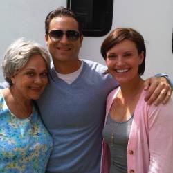 Actor Danny Fehsenfeld on set for Cerritos Auto Square