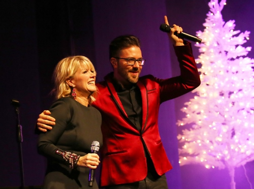 Danny Gokey and Natalie Grant thank the crowd at Zorn Arena Celebrate Christmas Tour
