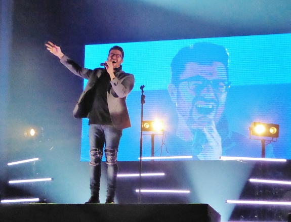 Danny Gokey performing at The Very Next Thing Tour