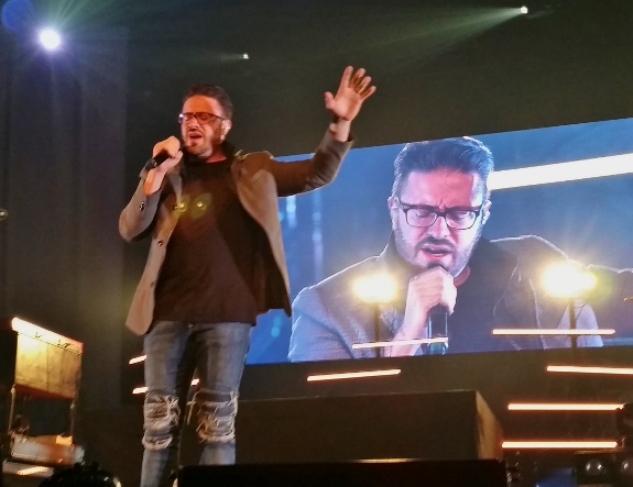 Danny Gokey performing on the Very Next Thing Tour