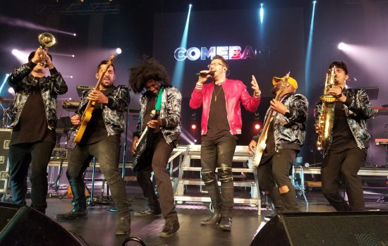 Danny Gokey performing with his band - jans