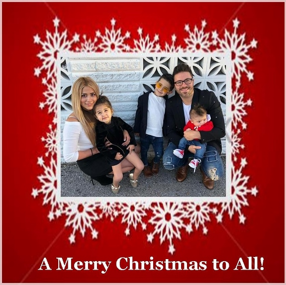 Leyicet and Danny Gokey family Christmas Card