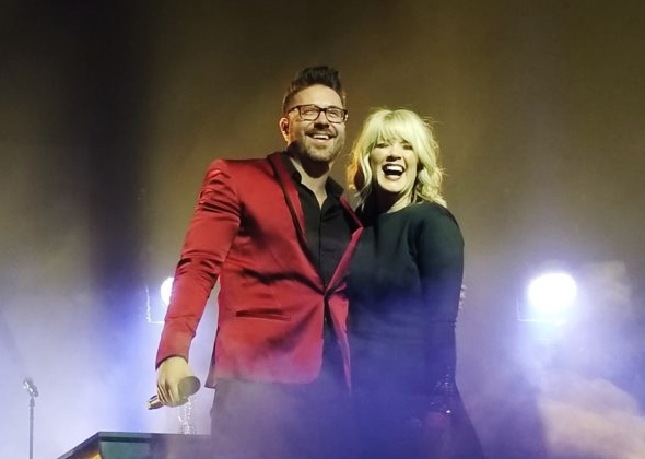 Danny Gokey and Natalie Grant at concert end