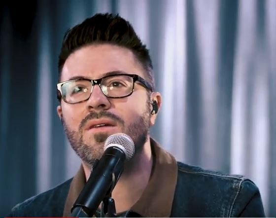 Danny Gokey performs Masterpiece in Air1 studios