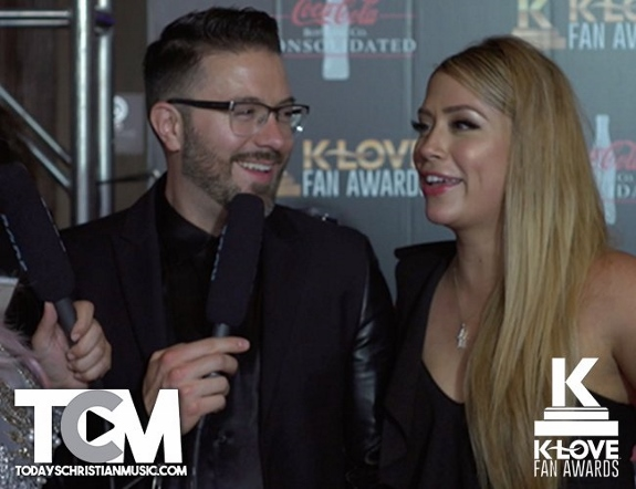 Danny Gokey and Leyicet on the K-LOVE Red Carpet