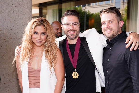 BMI Christian Award to Danny Gokey with Leyicet