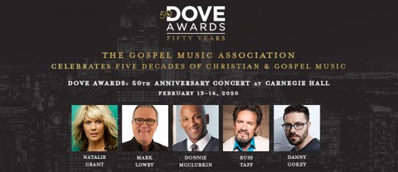 Danny Gokey at Carnegie Hall for 50th Dove Award Celebration