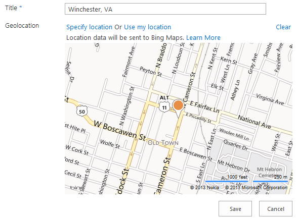 Set the Bing maps API key in Office 365 using CSOM to