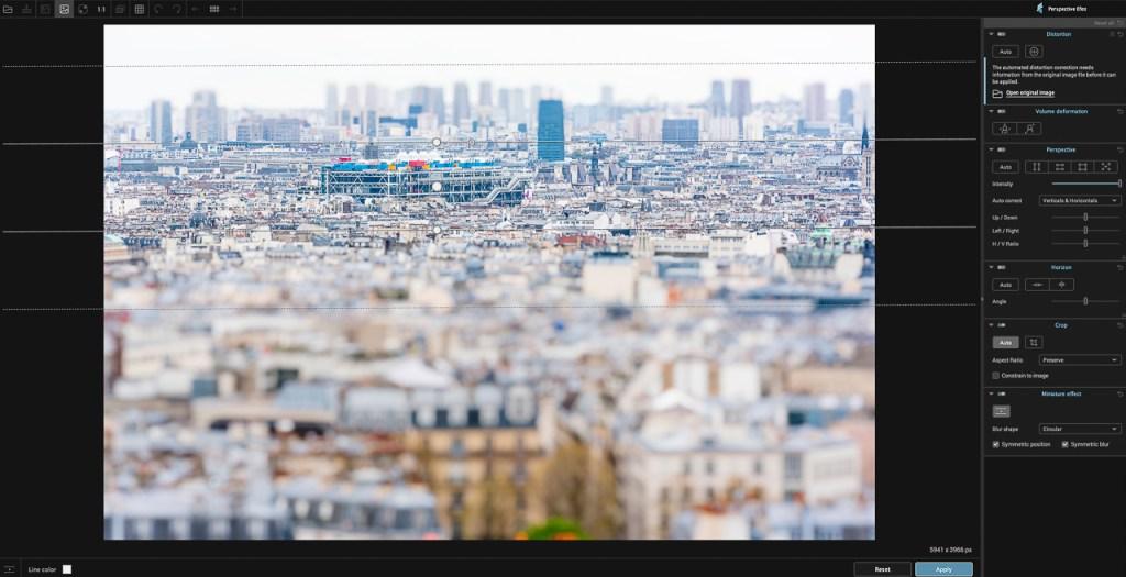 DxO Nik Collection: Perspective Efex 'miniature effect'