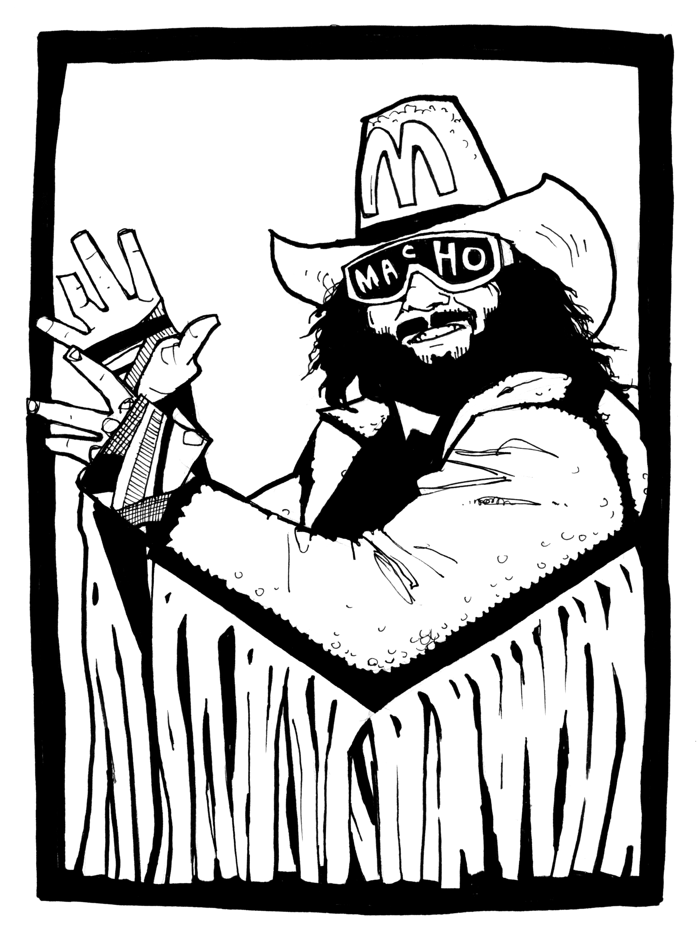Macho Man Randy Savage Coloring Pages Coloring Pages
