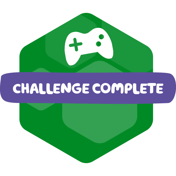 Gaming Hero completed badge