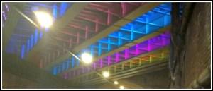 Header – Bermondsey Street bridge lights