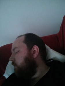 Shattered - Bearded Man asleep