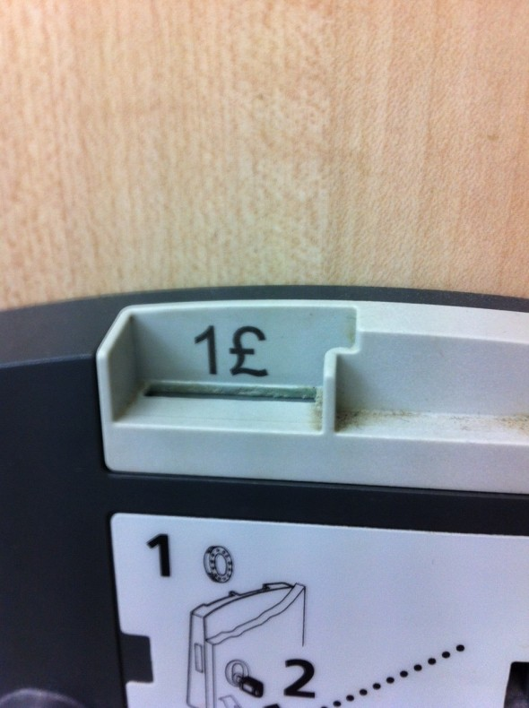 silly things that annoy me - The lockers at Riverside Ice and Leisure in Chelmsford which take 1£ rather than £1. Taken from an article by DannyUK.com