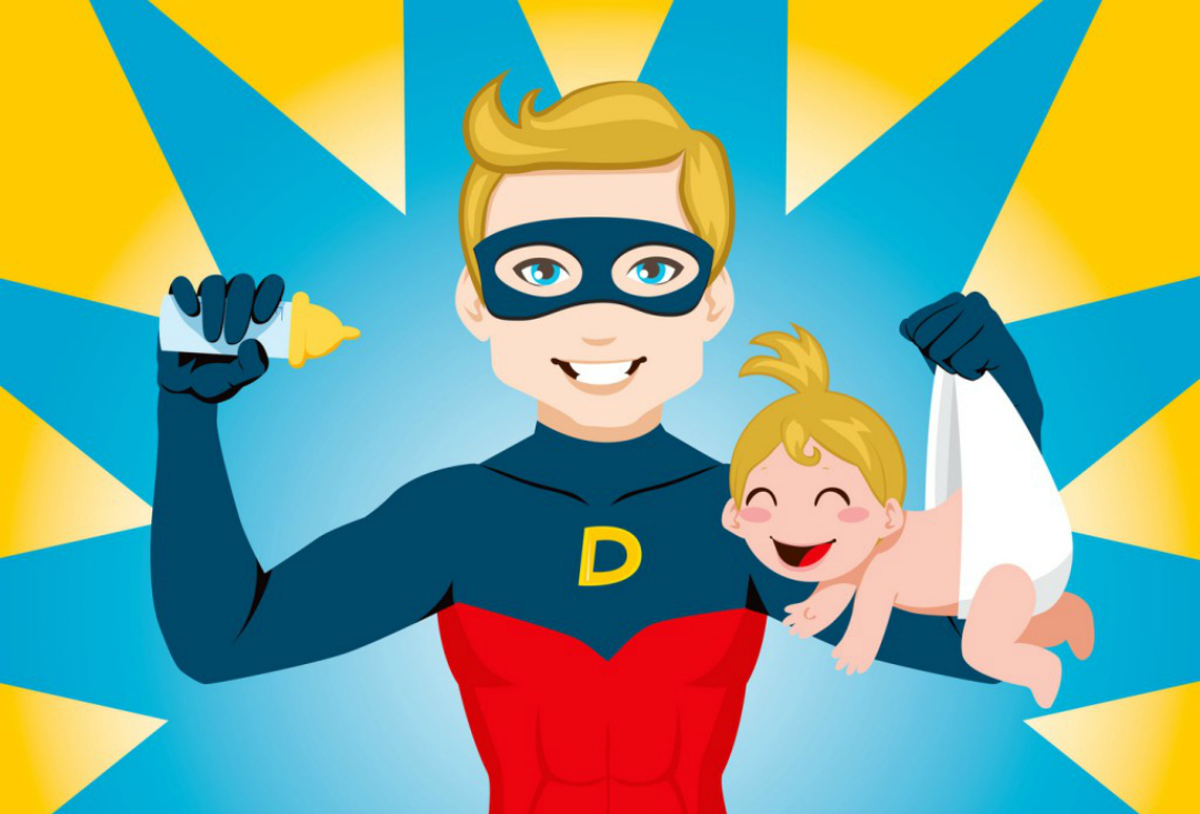 Becoming a parent - Superdad - Image taken from quandjeseraigrandejeseraipresidente.com. From an article by DannyUK.com