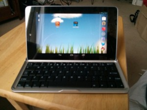 The keyboard with the Nexus 7 fitted.