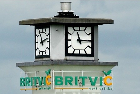 The Britvic clocktower in Chelmsford.