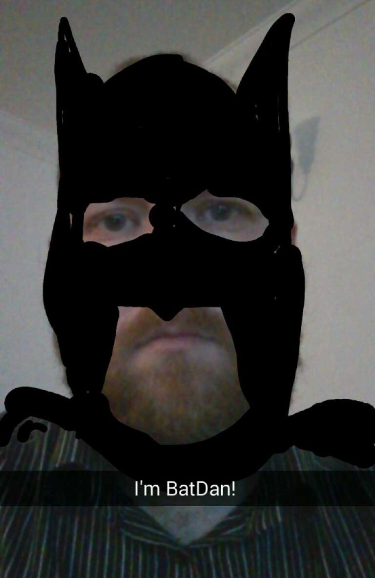 Snapchat BatDan - Taken from an article titled Snapchat pictures by DannyUK.com