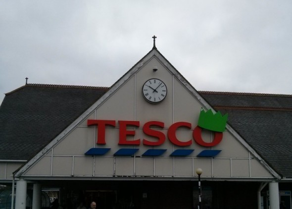 Tesco Christmas sign