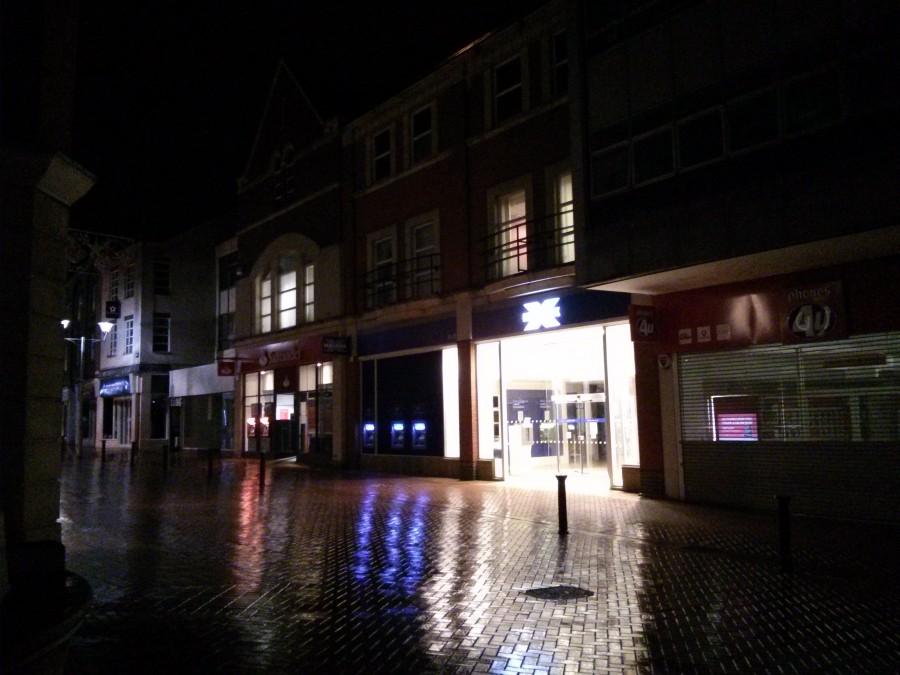 Chelmsford at night - Halifax and Santander