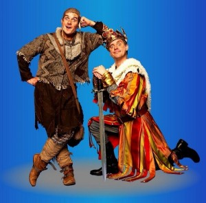 Dick and Dom as King Arthur and Patsy.in Spamalot.