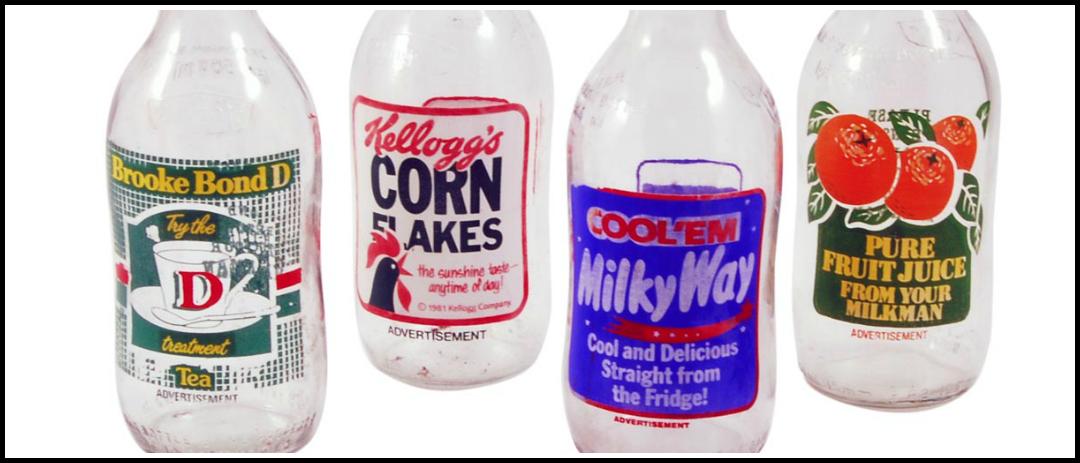 Milk bottle adverts!