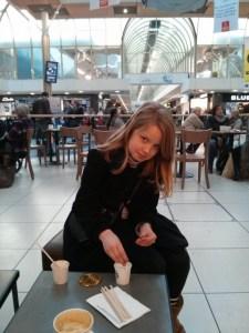11yo at Starbucks
