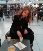 My 11 year old at Starbucks