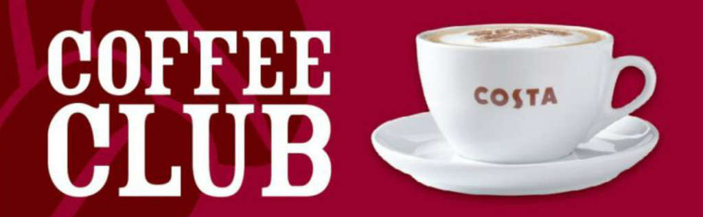 Get free coffee when you collect Costa points - Taken from the article Get free Costa points by DannyUK.com