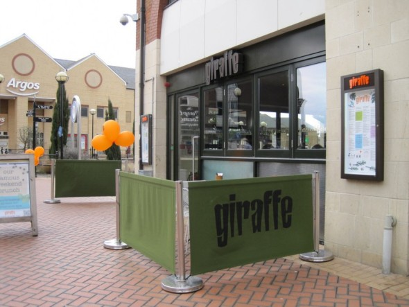 Giraffe Restaurant Chelmsford. Photo taken by tomylees on Flickr - Taken from a review of a Giraffe restaurant by DannyUK.com