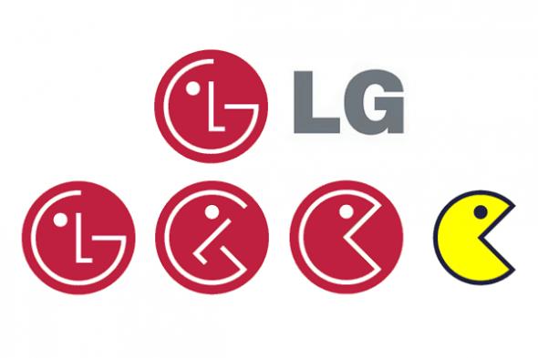 The LG logo is a broken Pacman