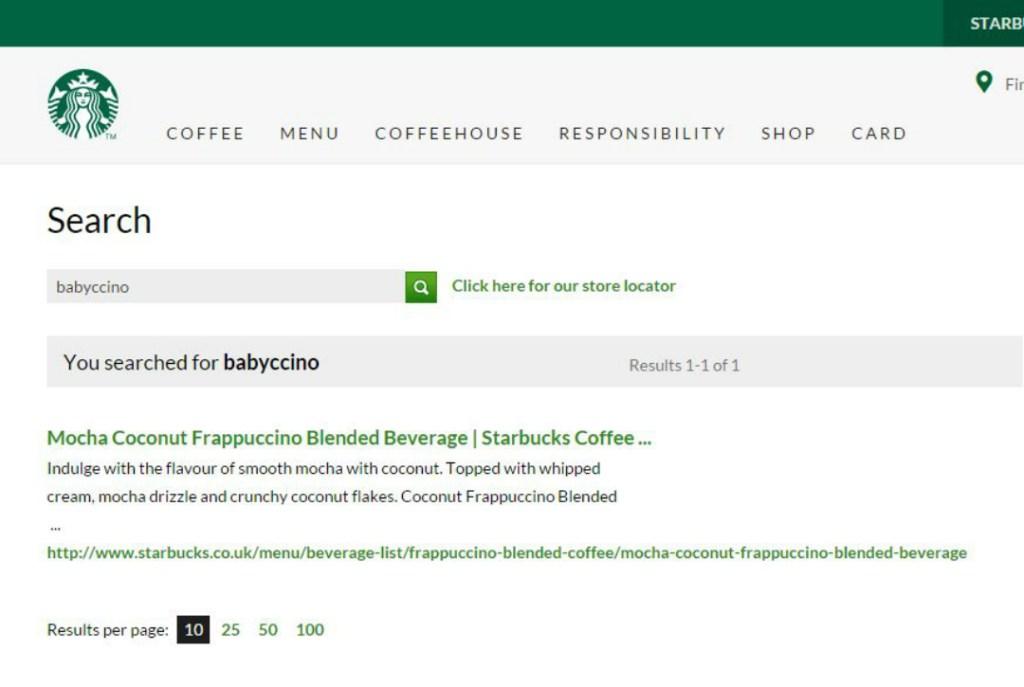 Starbucks Secret Menu - Babyccino - Taken from an article by DannyUK.com