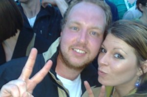 Dan and Tasha at V Festival 2008