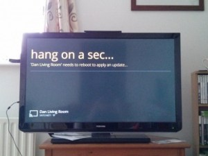 Google Chromecast installed and rebooting