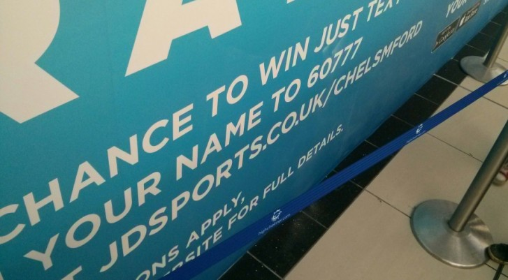 JD Sports Chelmsford sign typo at High Chelmer Shopping Centre