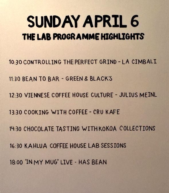 London Coffee Festival 2014 - The Lab - April 6th