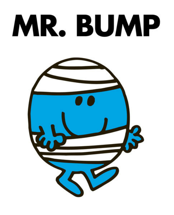 Mr Bump - Ouch.  From a blog post by DannyUK about the silly ways kids can hurt you. DannyUK.com