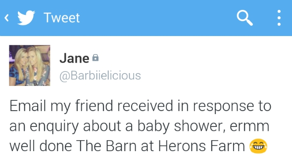 The Barns at Heron Farm Tweet