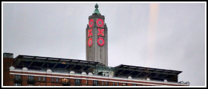 Taking a girl up the Oxo Tower.